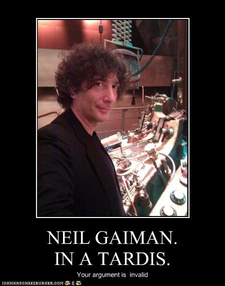 doctor who fans Hall of Fame lolz neil gaiman nerdy sci fi tardis writer - 4062548992
