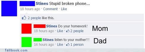 facepalm nice try parents your friends are laughing at you - 4062688000