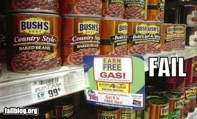 beans,failboat,gas,g rated,grocery store,irony,signs