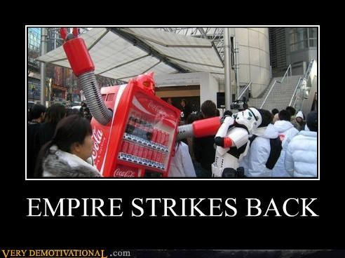 coke machine Empire Strikes Back guns Japan puns robots star wars stormtrooper Terrifying wtf - 4063478016