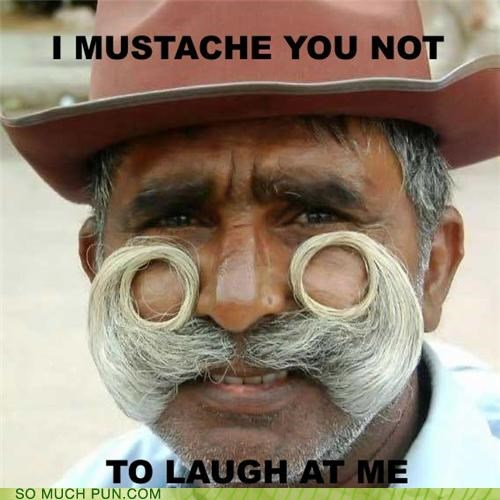 burnt facial hair handlebar joke laughing at mustache mutton chops request sideburns
