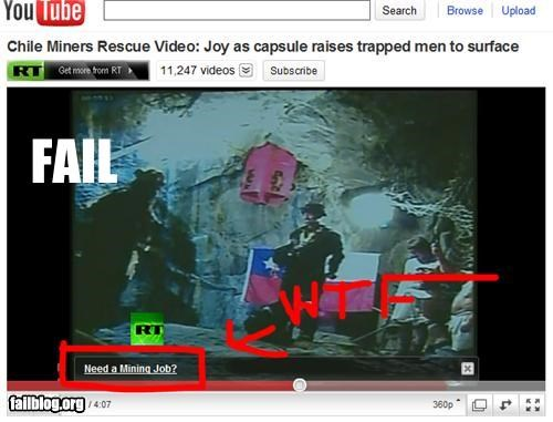 chilean miners,job,youtube