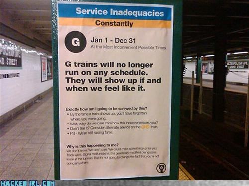 Service Alert: The G Train Doesn't Care About You
