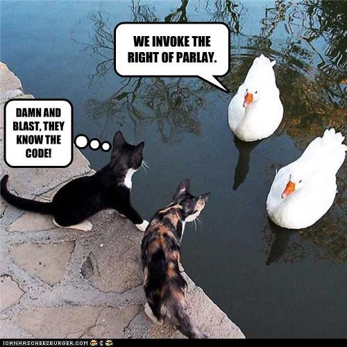 caption,captioned,cat,Cats,code,duck,ducks,Hall of Fame,invocation,parlay,pirates,right,upset