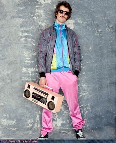 boombox colorful cool mustache tracksuit - 4066073856