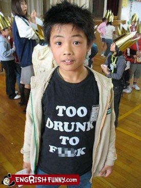 clothing drunk kid shirt swear words
