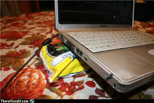 food,fruits and vegetables,laptop,overheating