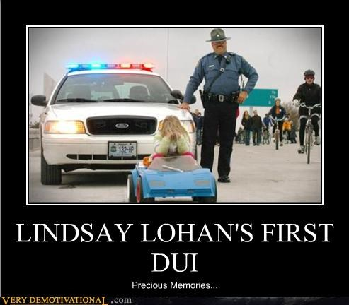 celeb,drunk driving,dui,FAIL,just-kidding-relax,lindsay lohan,lol,Mean People,police