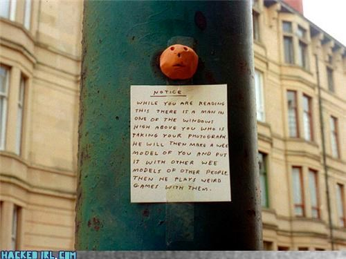creepy note sticker - 4068121600