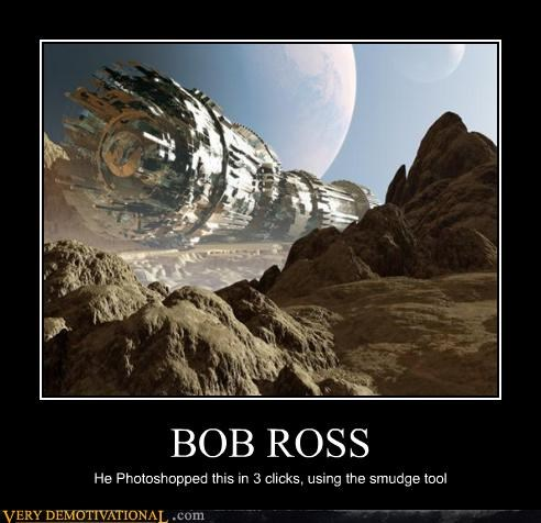 art,awesome,bob ross,creativity,CS5,photoshop,Pure Awesome
