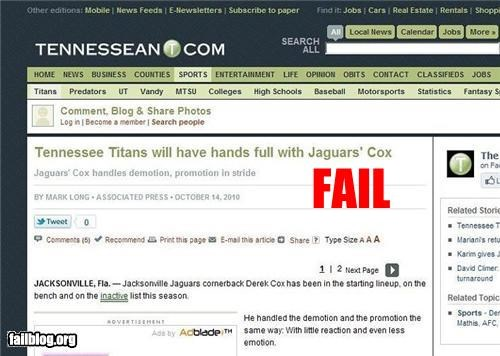bad title cox failboat football name Probably bad News - 4068610816