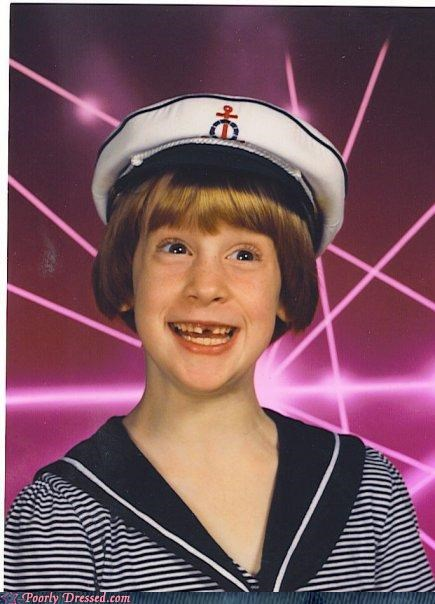 excitment,girl,lasers,sailor,school pictures