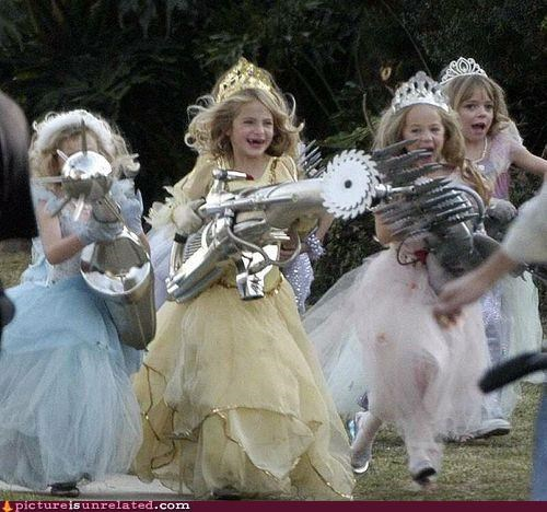 dressed up,guns,kids,protection against pedobear,weapons,wtf