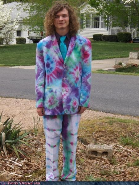 eww hippies suit tie dye weed - 4069889536