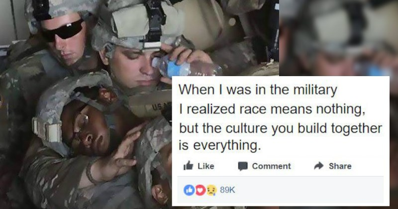 Formally Racist Soldier Shares Touching Story of How the Military Changed His Mind