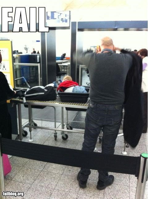 airport security,baby,bad idea,failboat,g rated,parenting,scans,security
