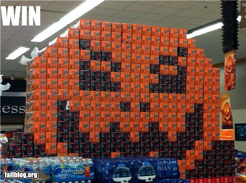 awesome classic display failboat grocery store halloween sodas win