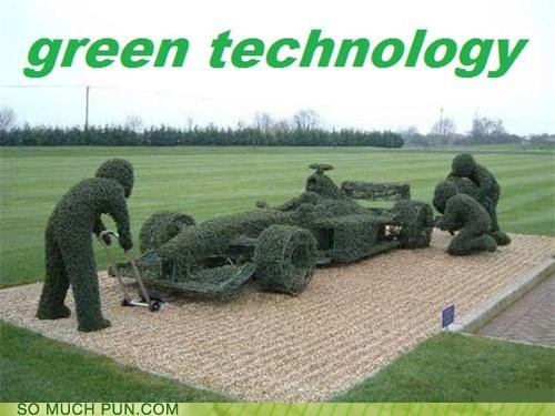 eco friendly,environmentally conscious,formula one,green,morning glory,poppy,race car,racing,technology,weed-b-gone