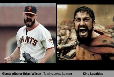 baseball,brian wilson,gerard butler,giants,Hall of Fame,King Leonidas