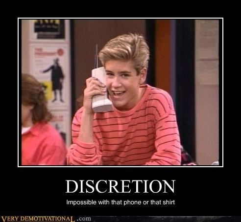 being discrete fashion idiots phones saved by the bell technology Zach Morris