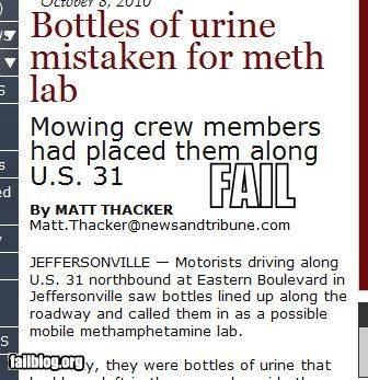 cops failboat meth Probably bad News urine - 4076226304