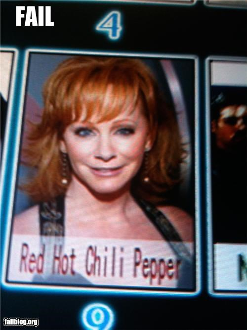artists,failboat,gingers,images,karaoke,Music,rated g,reba mcentire,red hot chili peppers
