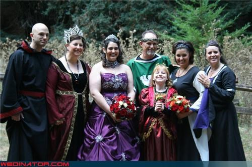 Bard,bubonic plague,Crazy Brides,crazy groom,fashion is my passion,funny wedding photos,Medieval themed wedding,Medieval Times,Medieval wedding,themed wedding,tiara,were-in-love,Wedding Dress Costume,wedding party,Wedding Themes,weddings are for dress-up