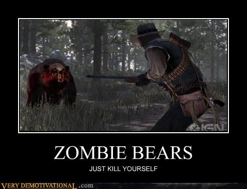 awesome,red dead redemption,suicide,Terrifying,zombie bears,zombie