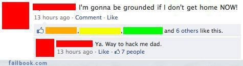 busted hacked oh snap parents status updates your friends are laughing at you