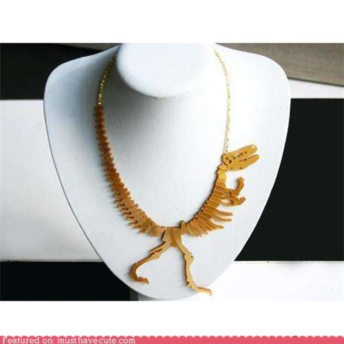 accessory bones dino dinosaur Jewelry necklace - 4078304512