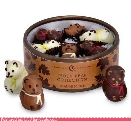 candy chocolate edible food sweets teddy bears Truffles - 4078430720