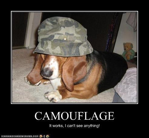 anything basset hound camouflage cant-see doing it wrong works - 4078528512