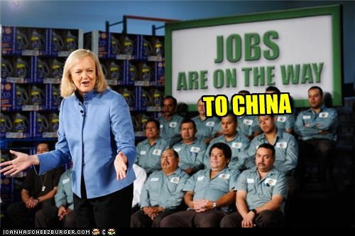 China economy funny jobs lolz meg whitman