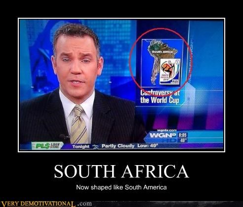 FAIL geography idiots news South Africa south america world cup - 4079888128