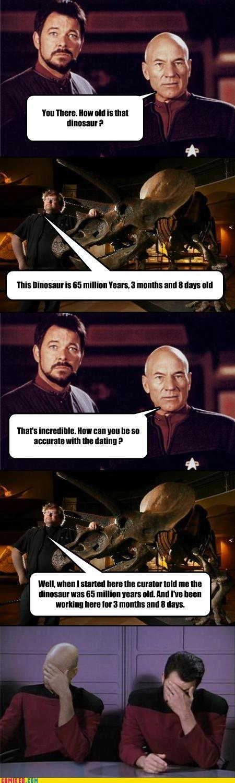 animals dinosaurs face palm history science sci fi Star Trek - 4080456448