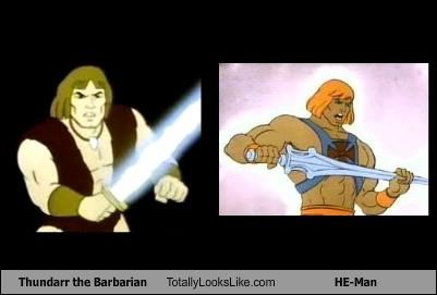 cartoons,he man,thundarr the barbarian