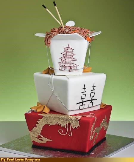 cake chinese chow mein fondant Sweet Treats take out