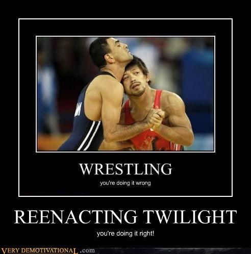 dancing kinda gay Mean People twilight wrestling youre-doing-it-right