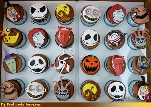 characters,cupcakes,Movie,nightmare before christma