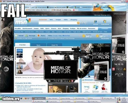 ads,Babies,failboat,g rated,guns,modern warfare,online,video games