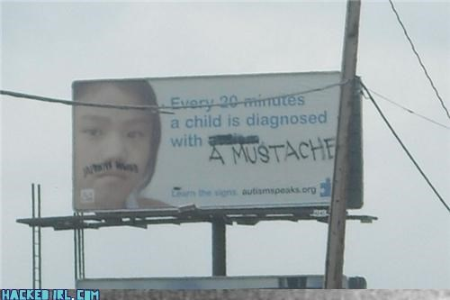 baby,billboard,diagnosis,mustache