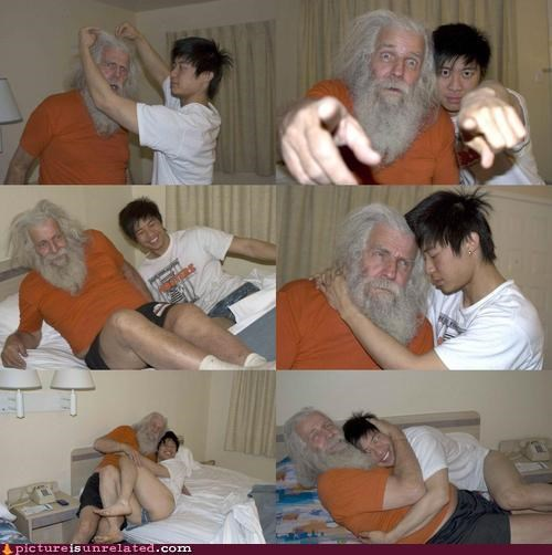 AZN cuddling imaginary friends old man pairs wtf