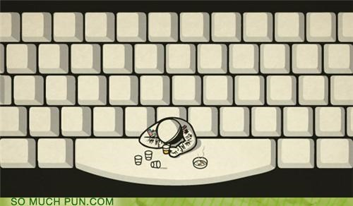 astronaut,drinking,drunk,indents,keyboard,passed out,problem,space,space bar,tabs,tanked