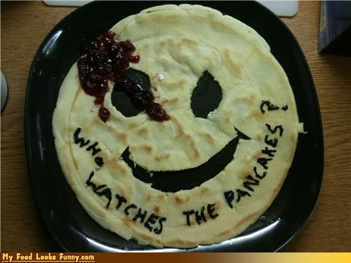 breakfast comic book meals Movie pancakes watchmen - 4082334976