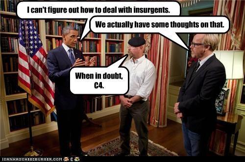 barack obama Democrat funny lolz mythbusters president - 4083571456