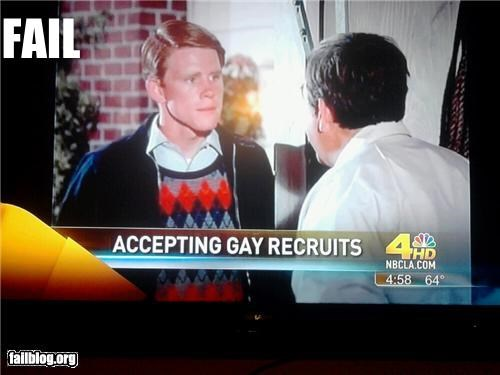 failboat footage gay Happy Days headlines news politics recruits television - 4084402176