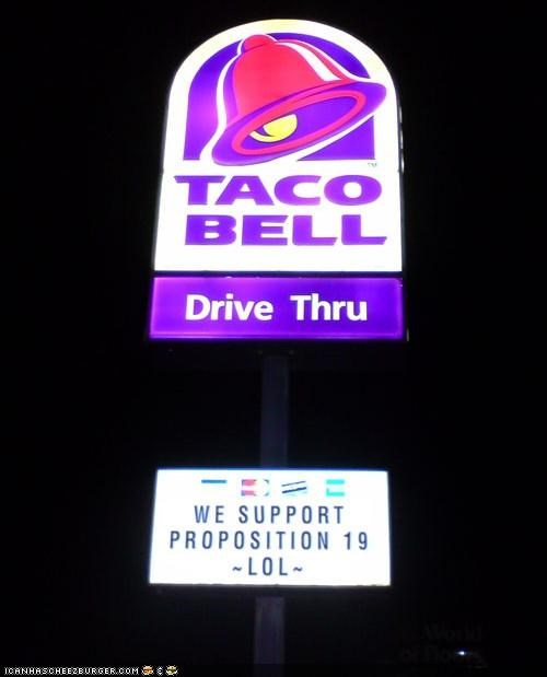 business news prop 19 sign taco bell - 4084814592