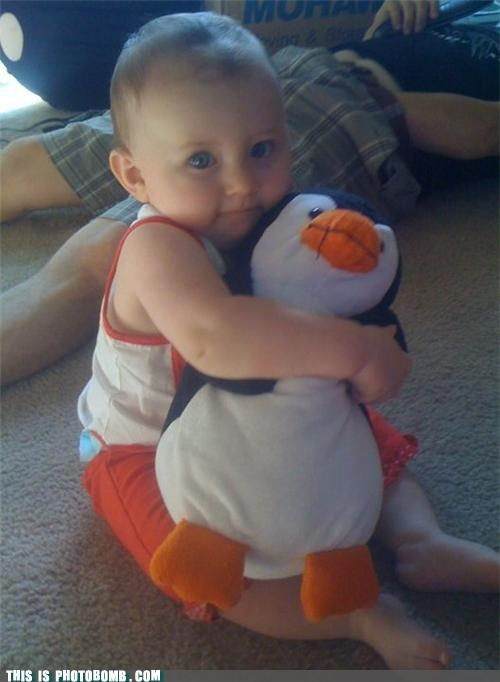 baby Impending Doom kids ominous penguins photobomb playing with yourself wtf - 4084903424