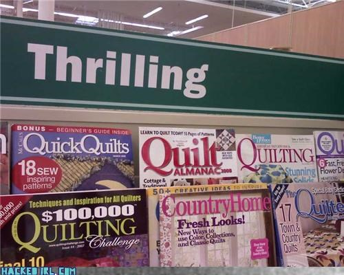 books,magazines,quilt,thrilling