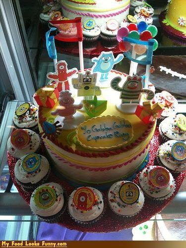 cake cupcakes kids stoners TV yo gabba gabba - 4085302784